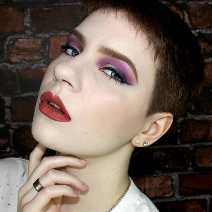 Black and Purple Eye Makeup