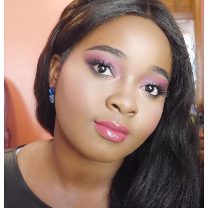 Purple Eye Liner Idea for Dark Skin