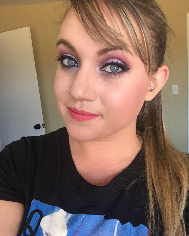 cute purple and pink makeup