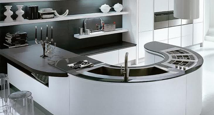 18+ Curved Kitchen Island Designs, Ideas | Design Trends - Premium ...