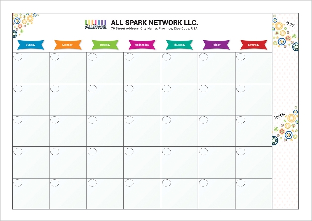birthday schedule calendar