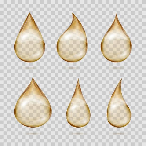 transparent water drops vector