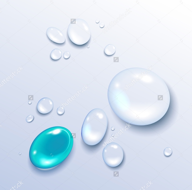 High Resolution Water Drops Vector