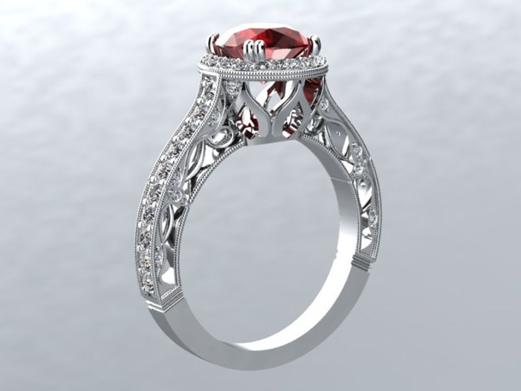 Silver Ruby Ring