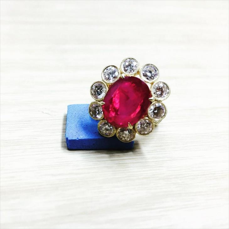 Ruby Stud Ring