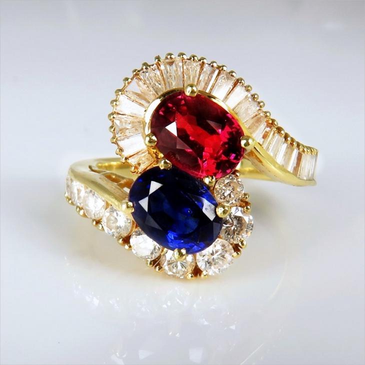 unique color engagement ring