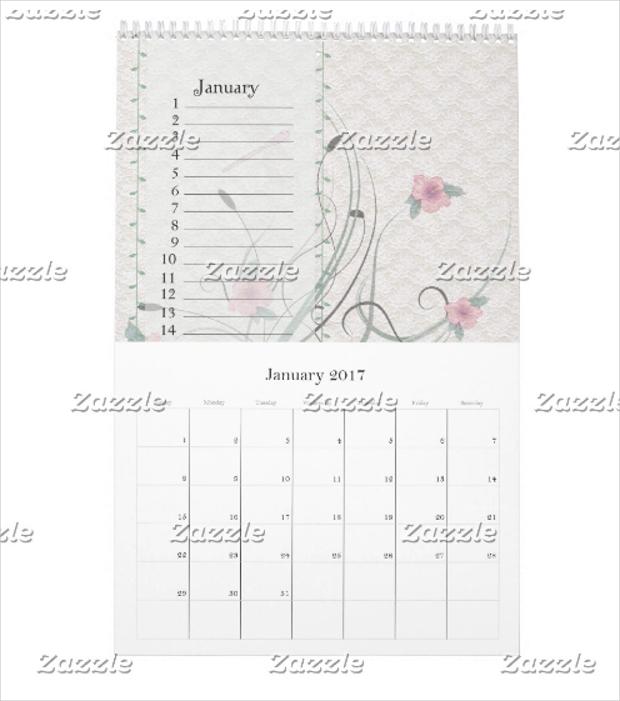 Vintage Birthday Calendar