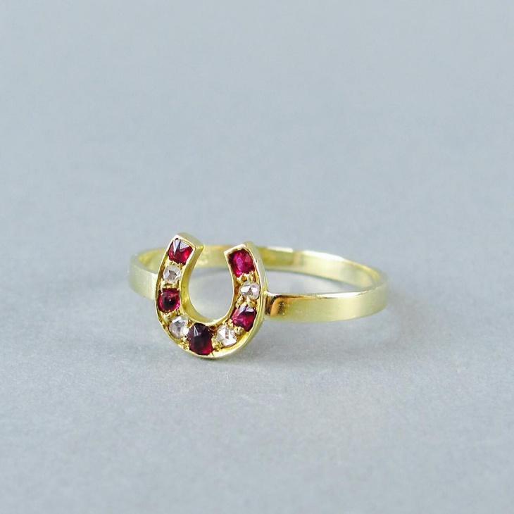 mine cut ruby ring