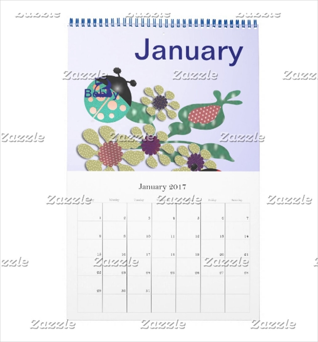 Family B-date Calendar