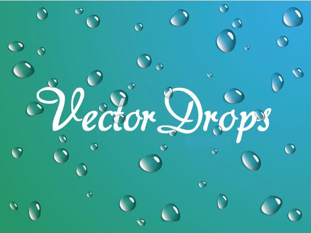 Nature Water Drop Vector