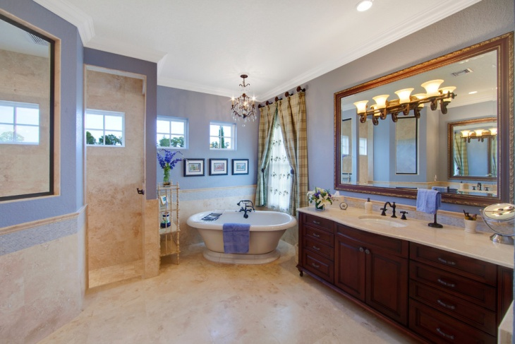 french country master bathroom design