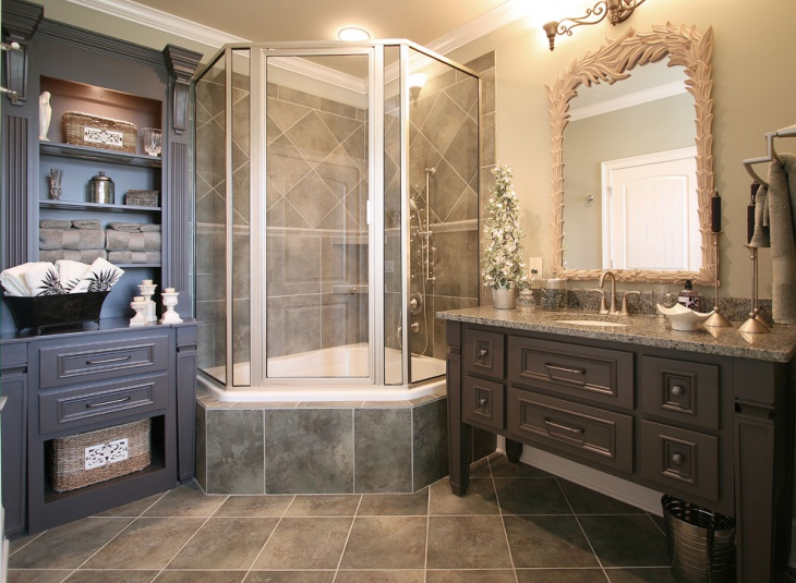 Ordinaire Traditional Bathroom With Custom Cabinetry