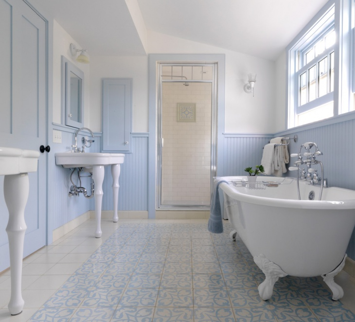 Light Blue Farmhouse Bathroom