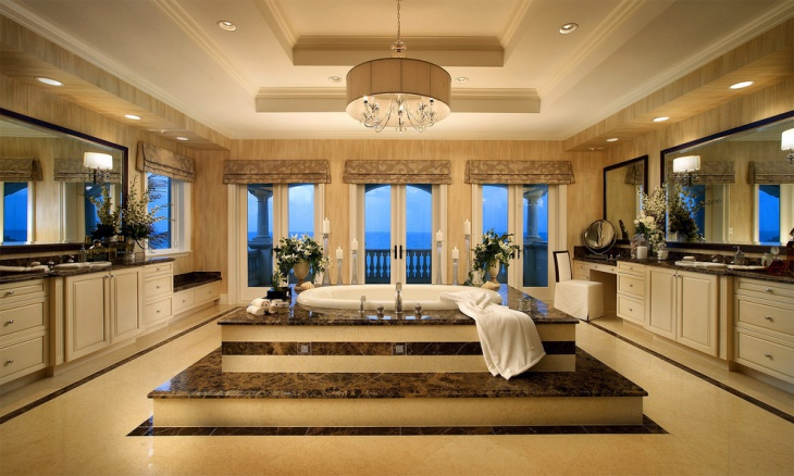 luxurious french style bathroom