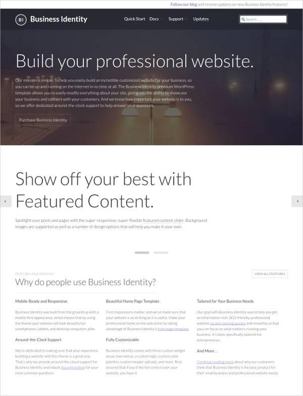 Professional Small Business WordPress Theme