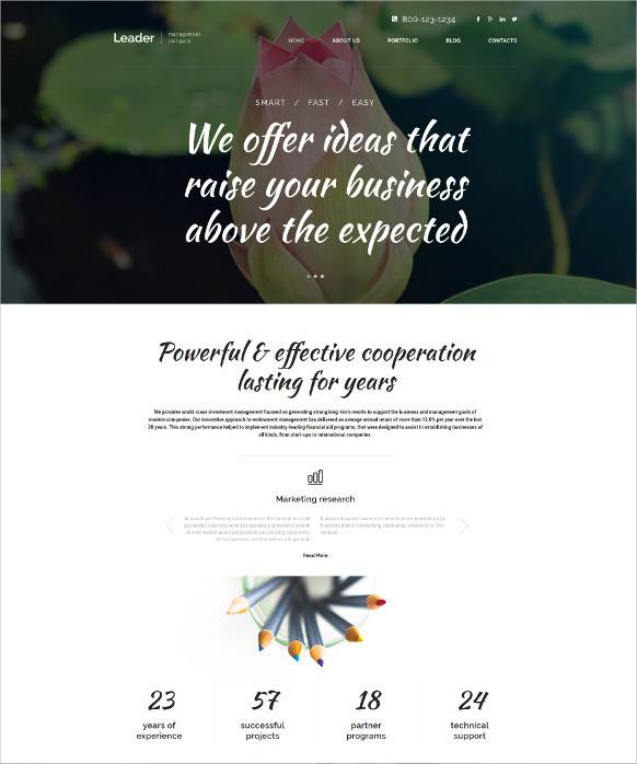 Business Leaders WordPress Theme