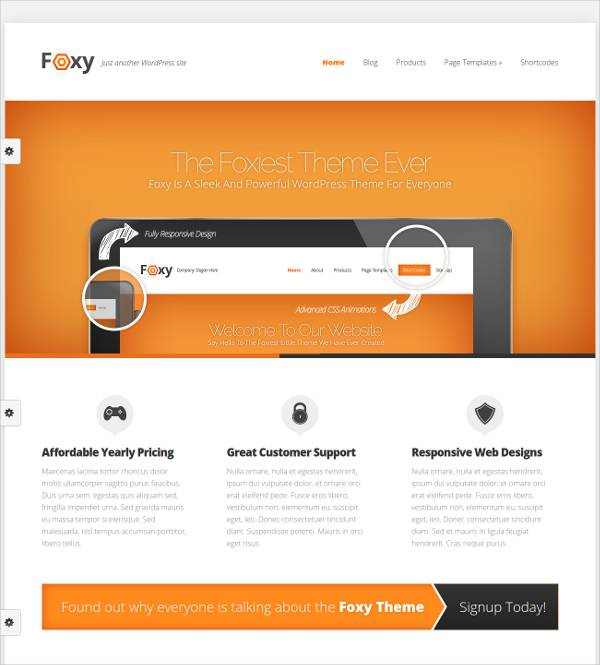 WordPress Template for E-Commerce