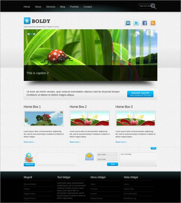 Flat Business WordPress Theme