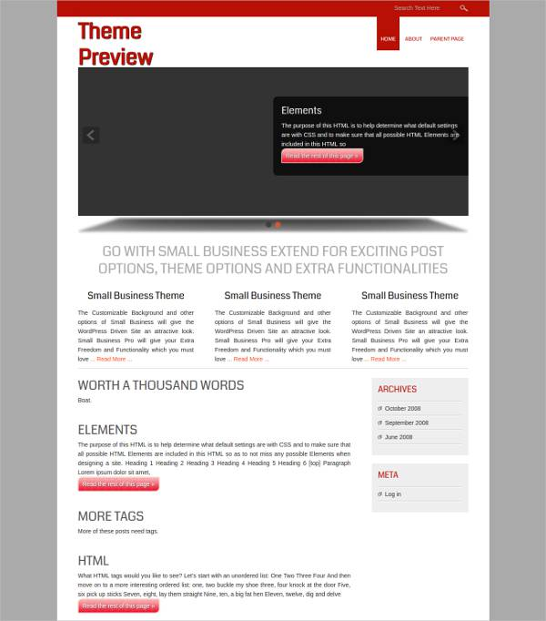 World Class Business WordPress Theme