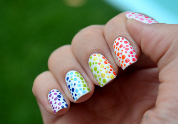 Colorful Dot Nail Art Idea