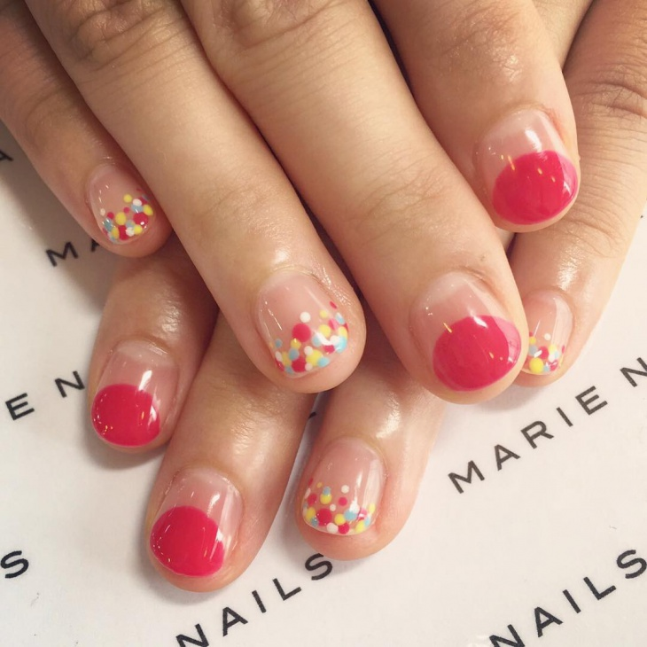 Bubble Summer Nail Art Idea