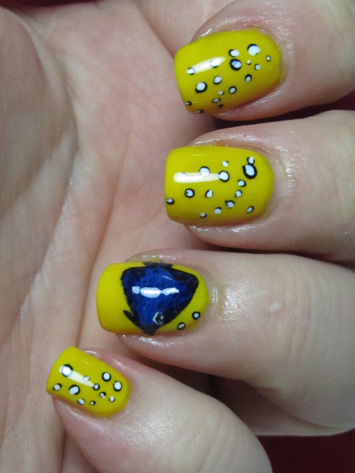 Yellow Color Acrylic Nails