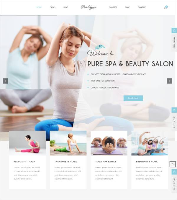 Spa Business WordPress Theme