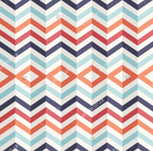 layered retro seamless pattern