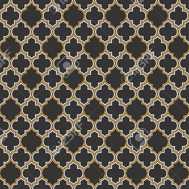 Arabic Repetitive Seamless Pattern