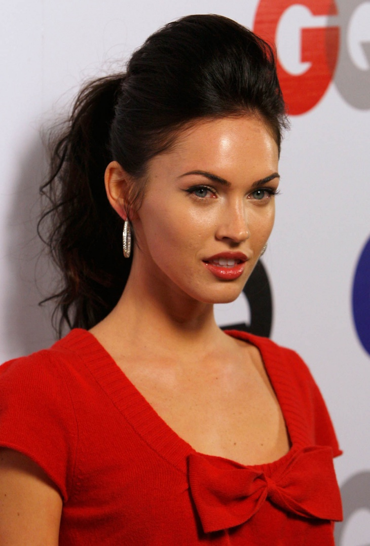 Megan Fox Bouffant Ponytail Hairstyle Idea