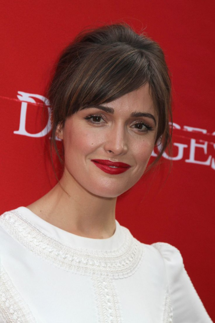 Rose Byrne Bouffant Updo Hair