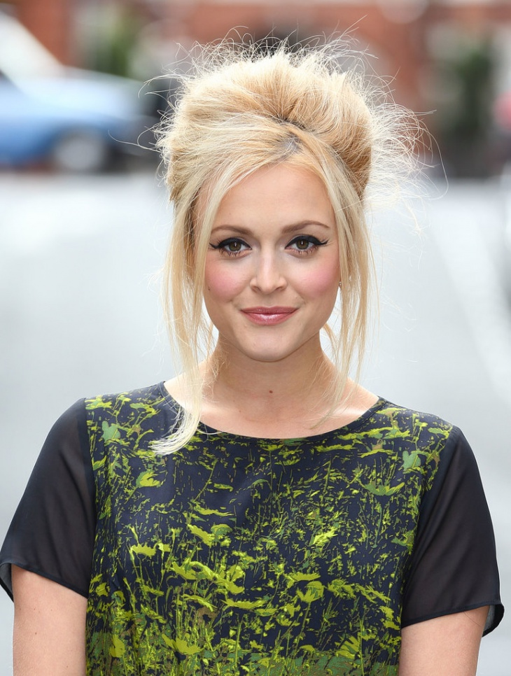 Fearne Cotton Bold Bouffant Hairstyle Design