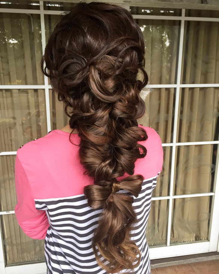 Fashionable Mermaid Hairstyle Design
