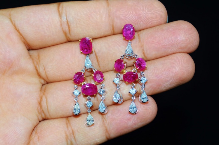 ruby solitaire earrings idea