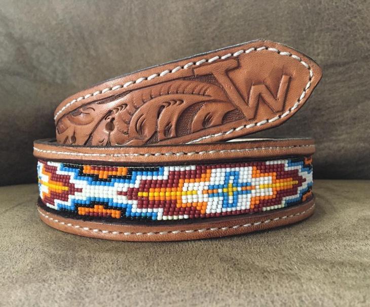 Vintage Beaded Belt