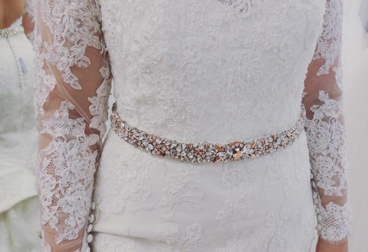 crystal beaded belt