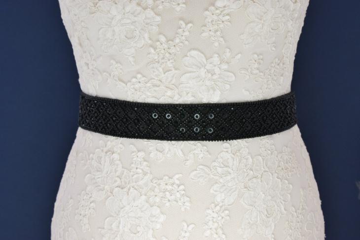 black beaded belt