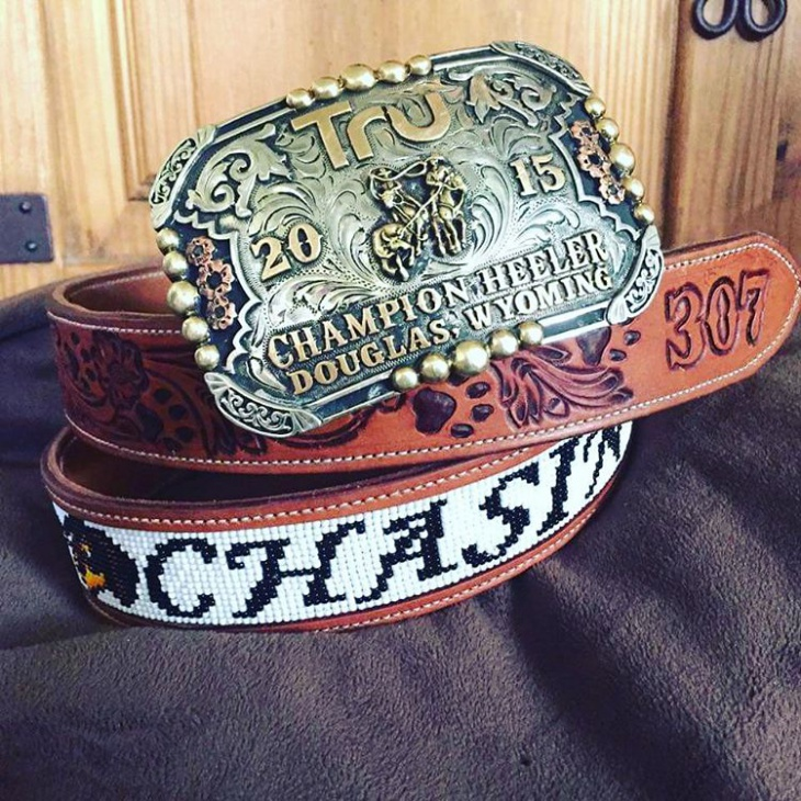 beaded belt buckle