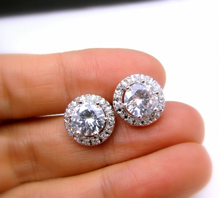 bridal stud earrings design