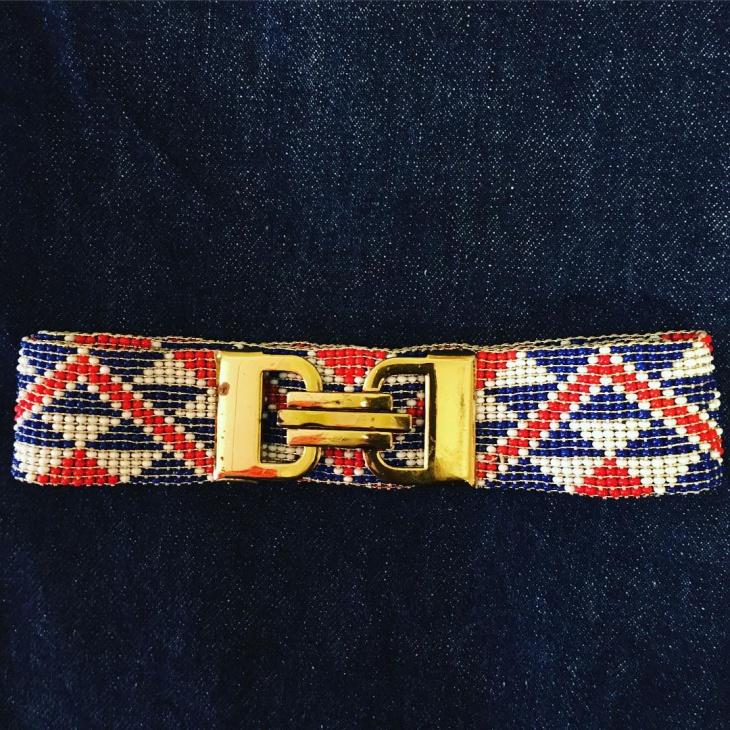 Aztec Beaded Belt