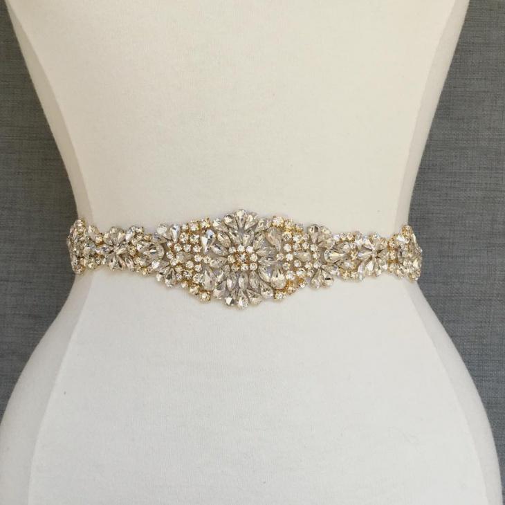 Gold Beaded Bridal Belt