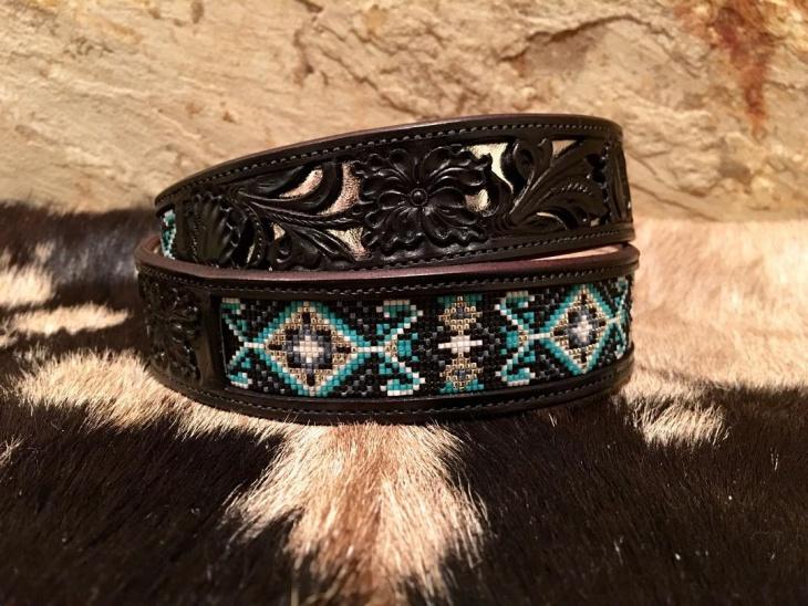 eclectic bead work belt design