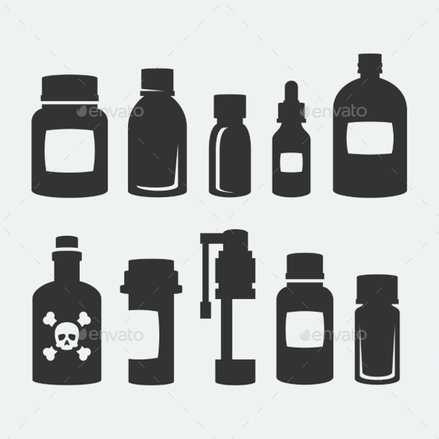 Medicine Bottle Icons