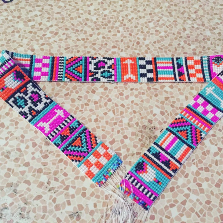 Colorful Beaded Belt Idea