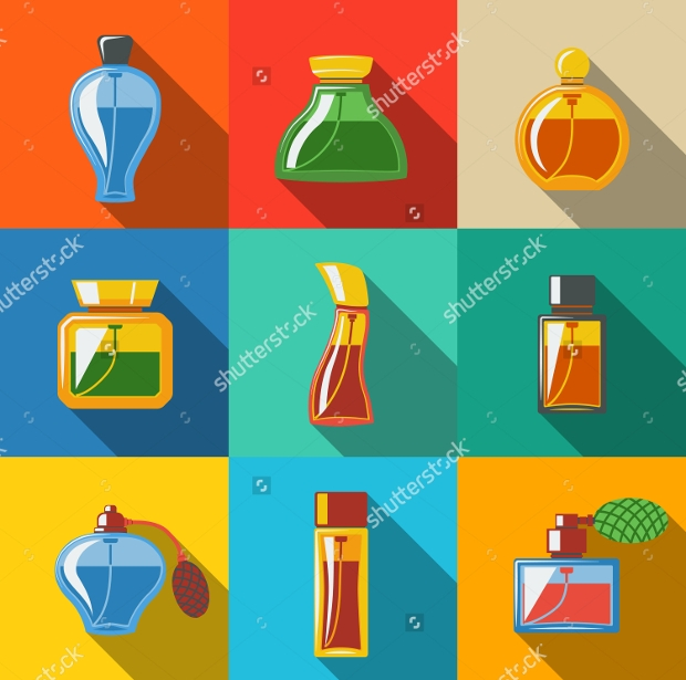 Perfume Bottle PSD Icons