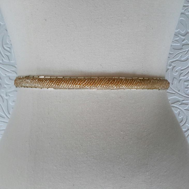 thin gold beaded belt idea