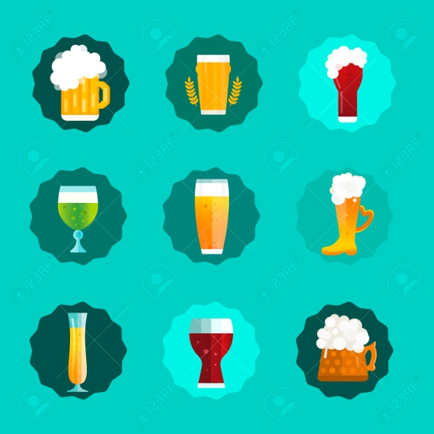 Free Bottle Vector Icon Set