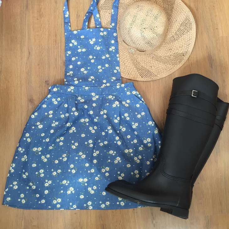 dungaree skirt design