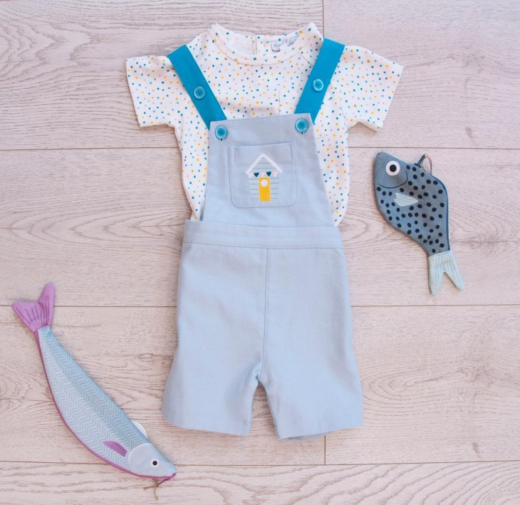 baby short dungaree outfit
