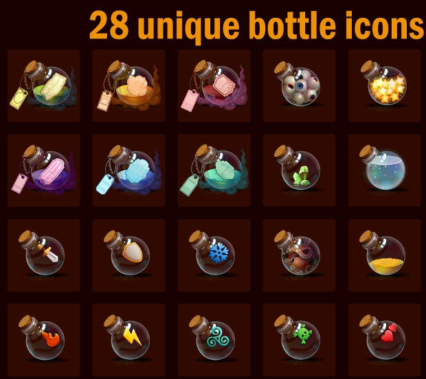 Unique Bottle Icons